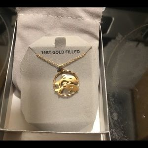 14k Dolphin necklace new